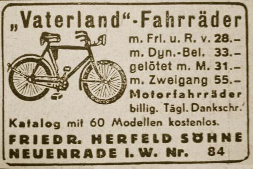 Vaterland Fahrrad