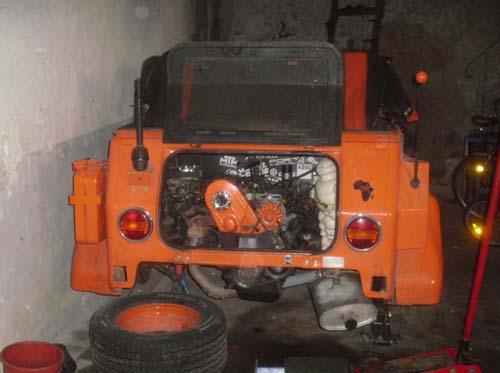 Passatmotor im VW Kübel 181