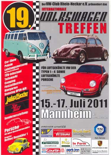 Plakat 9. Käfertreffen Mannheim 2001