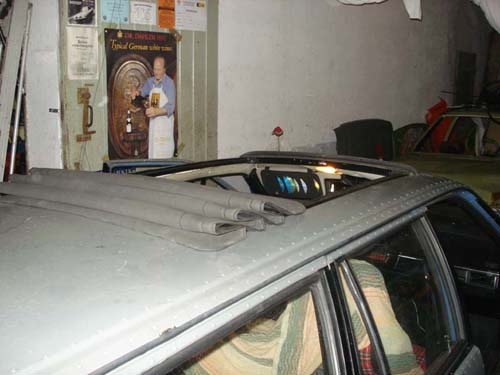 Renault Twingo Faltdach im VW Passat 32B