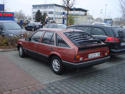 Opel Ascona C Heckjalousie, Katzentreppe, Gurkenhobel