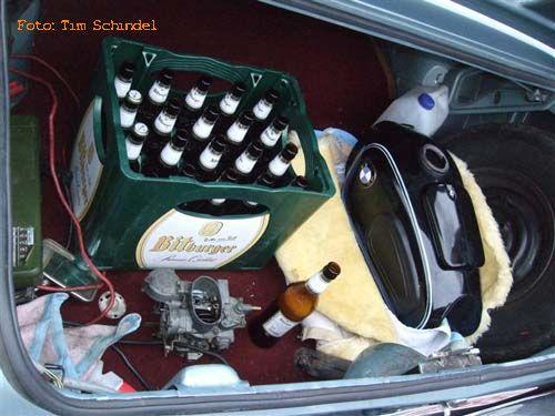 Bierkiste Kofferraum