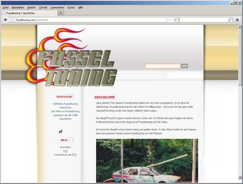 Fusseltuning Website