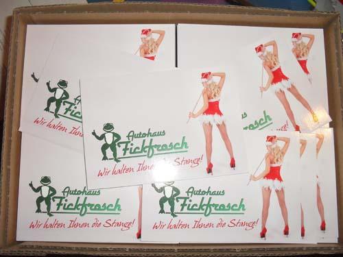 Weihnachtskarte Autohaus Fickfrosch